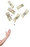 Mani che pregano per i soldi Fotografia Stock Libera da Diritti