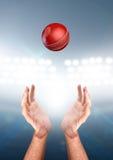 Mani che prendono palla Fotografia Stock