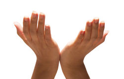 Mani che raggiungono fuori Fotografie Stock