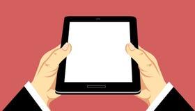 Mani che tengono compressa mobile illustrazione vettoriale