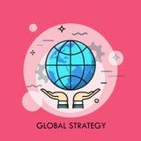 Mani che tengono globo royalty illustrazione gratis