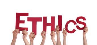 Mani che tengono l'etica Fotografie Stock Libere da Diritti