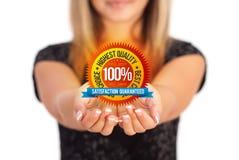 Mani che tengono simbolo di affari Fotografia Stock