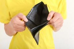 Mani che tengono un portafoglio vuoto Immagine Stock Libera da Diritti