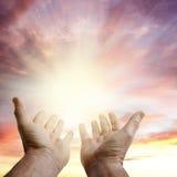Mani in cielo Fotografia Stock Libera da Diritti