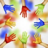 Mani Colourful immagini stock libere da diritti