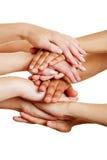 Mani come concetto per aiuto e supporto Fotografie Stock Libere da Diritti