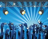 Mani con i camers al concerto 2 Immagine Stock Libera da Diritti