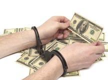 Mani con il dollaro Fotografia Stock Libera da Diritti