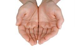 Mani (con il percorso di residuo della potatura meccanica) Immagini Stock