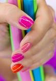 Mani con la caramella Fotografia Stock Libera da Diritti