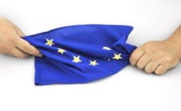 Mani con UE bandiera l'11 settembre 2016 Fotografia Stock Libera da Diritti