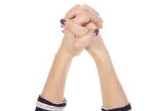 Mani connesse insieme Fotografia Stock Libera da Diritti