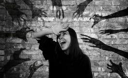 Mani dall'inferno Fotografie Stock