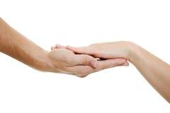 Mani degli amanti Fotografia Stock