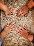 Mani dei bambini Immagine Stock
