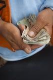 Mani dei soldi Immagini Stock Libere da Diritti
