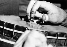 Mani del banjo Fotografia Stock