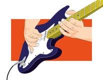 Mani del chitarrista Immagini Stock Libere da Diritti