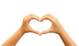 Mani del cuore Fotografia Stock