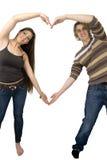 Mani del cuore di amore Immagini Stock Libere da Diritti