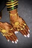 Mani del hennè Fotografia Stock Libera da Diritti