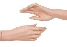 Mani del mannequin di plastica Fotografia Stock