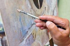 Mani del pittore Fotografie Stock Libere da Diritti