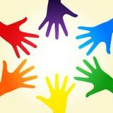 Mani del Rainbow Fotografie Stock Libere da Diritti