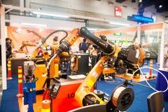 Mani del robot industriale Fotografia Stock Libera da Diritti