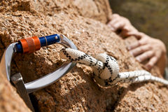 Mani del Rockclimber Fotografia Stock Libera da Diritti