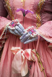 Mani del ` s delle donne in guanti Immagine Stock Libera da Diritti