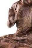 Mani del ` s di Buddha in mudra di vitarka di posizione - alto vicino Fotografia Stock