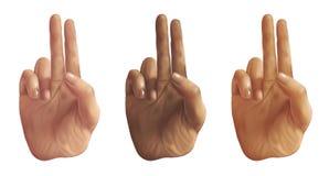 Mani del segno di pace - illustrazione digitale Immagini Stock