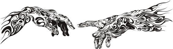 Mani del tatuaggio Immagine Stock Libera da Diritti
