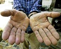 Mani dell'operaio Immagini Stock Libere da Diritti