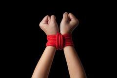 Mani dell'ostaggio Immagine Stock Libera da Diritti