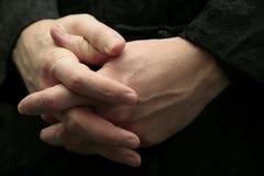 Mani dell'uomo Fotografie Stock