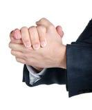 Mani dell'uomo d'affari insieme Immagine Stock