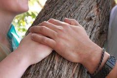 Mani della coppia Immagine Stock