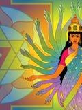 Mani della dea royalty illustrazione gratis
