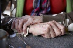 Mani della donna Immagini Stock Libere da Diritti