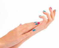 Mani della donna con il nuovo manicure Immagine Stock Libera da Diritti
