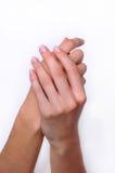 Mani della donna di tocco morbido Immagini Stock Libere da Diritti