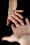 Mani della donna e dell'uomo Fotografie Stock Libere da Diritti