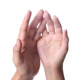 Mani della donna e dell'uomo Fotografia Stock Libera da Diritti