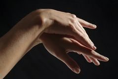 Mani della donna, manicured immagine stock