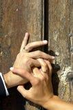 Mani della holding fotografie stock libere da diritti