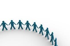 Mani della holding della gente in un grande cerchio Immagine Stock Libera da Diritti