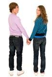 Mani della holding delle coppie Fotografia Stock